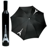 에펠탑 와인병 우산 - Black