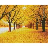 황금나무 길 (캔버스형) 보석십자수 40x50