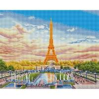 에펠탑 광장 (캔버스형) 보석십자수 40x50
