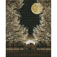 조용한 숲 (캔버스형) 보석십자수 40x50
