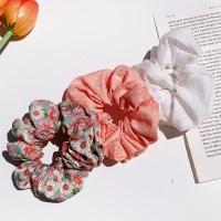 [3개세트][3color] 레트로 데이지꽃 플라워 땡땡이 곱창 머리끈 세트