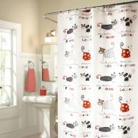 해피캣츠 욕실 방수 샤워 커튼
