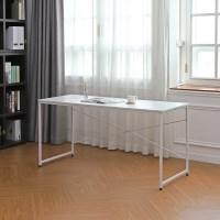 솔리드 1인용 철제 책상 테이블 1500 블랙/화이트