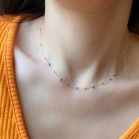 [오직텐텐]bounce bead necklace