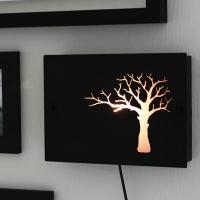 [바이빔]나무 벽걸이 스탠드-블랙