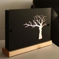 나무 스탠드-블랙