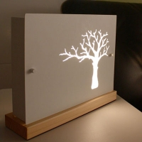 나무 스탠드-화이트