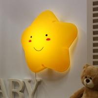 [LAMPDA]LED형  스마일 별모양 벽등 (옐로우)