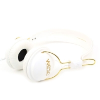 (B2)Tambourine golden(UNISEX PREAMIUM HEADPHONE) - white
