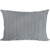 pillow cover gray stripe