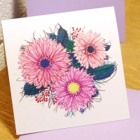 with flower card