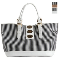 Stripe 3 Buckle Bag