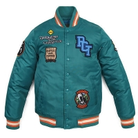 [����]HUNTER TWILL STADIUM JACKET (GREEN)   P#27160#
