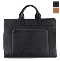 Leather Mannish Square Bag