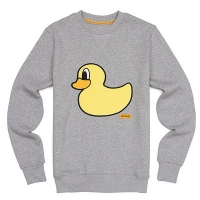 [����]POP DUCK FLEECE CREW NECK (HEATHER GREY) PP114CR07UC4  P#3