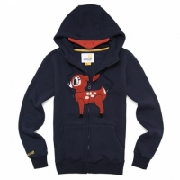 [����]POP DEER FLEECE ZIPUP (NAVY) PP114HZ08UB9  P#41255#