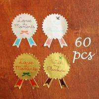 Cookie brooch sticker 60pcs