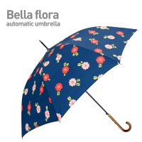 Bella Flora (Navy) 자동 장우산