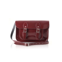 11inch Patent Oxblood Red