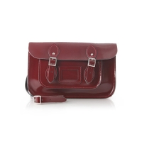 12.5inch Patent Oxblood Red