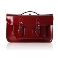 15inch Patent Oxblood Red