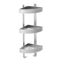 GRUNDTAL Corner shelf stainless steel 욕실 코너선반 701.769.15