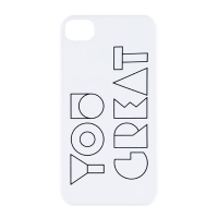 YOU GREAT. PHONE CASE VER 1-06-4 (IPHONE 4, 4S)