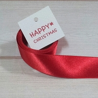 RED ribbon & tag