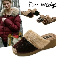 국내생산Cute toe open fur slippers_KM12w420