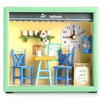 돌하우스 커피샵 탁상시계(벽시계 겸용)