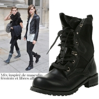 Loose Fit Black Ankle Boots [KEP796]