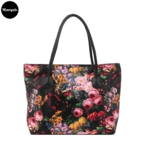 Flower Print Shopper Bag