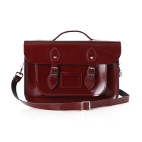 14inch Patent Oxblood Red with handle