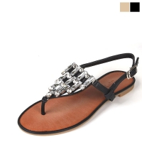 Crystal Chandelier Flat Sandal [KEJ7ba9108]