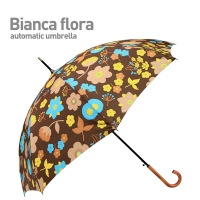 BIANCA FLORA (Brown) 자동 장우산