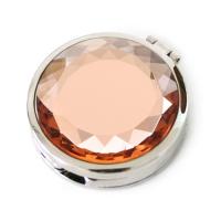 휴대용 가방걸이 - 빈티지스톤 거울형(샴페인 오렌지)