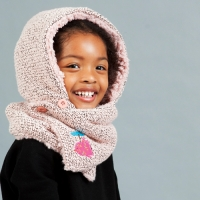 Hooded Neck Warmer_Fur Pink