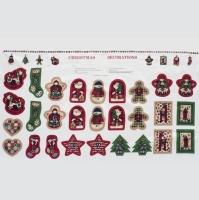 (커트지) 크리스마스시리즈-리스,키홀더 데코레이션 (총14세트)