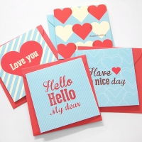 Love Card - Blue 4set