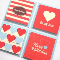 Love Card - Red 4set