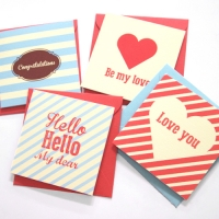 Love Card - Ivory 4set