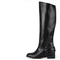 Black Stud Long Boots [KEPL1135]
