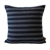 Woollen Stripe Cushion �コƮ��������� [Navy]