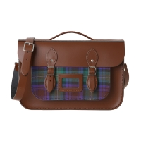 14inch Chestnut Brown Tartan Pocket