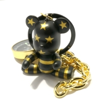 BOMGOM BEAR KEYRING_(gold stripe)