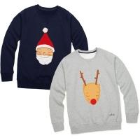 산타 루돌프 크리스마스 맨투맨 티셔츠