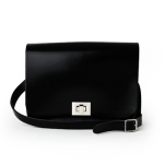 Patent Pitch Black Medium Pixie Bag