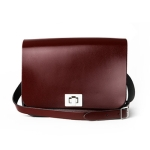 Patent Oxblood Red Medium Pixie Bag