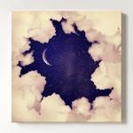 캔버스액자 Vintage moon sky1