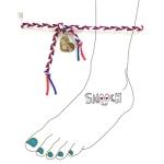 [스무치] braided anklet - red mix